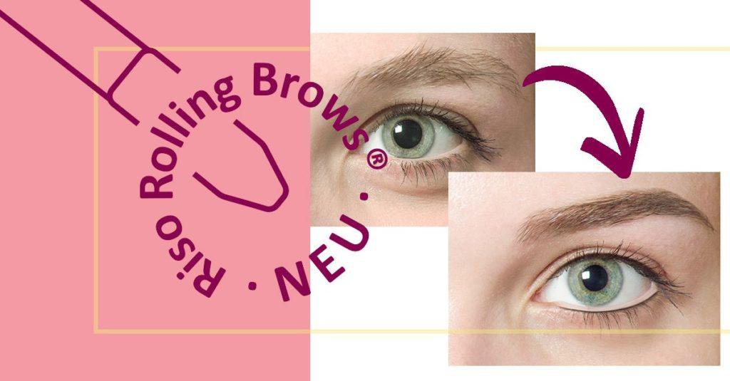 Riso Rolling Brows im Powder-Look
